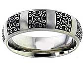 Pagan Triskele Celtic Wedding Ring
