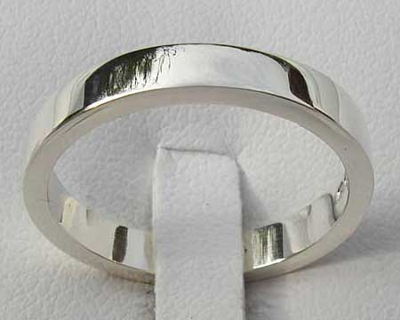 Plain Sterling Silver Wedding Ring