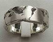 Rock Texture Silver Wedding Ring