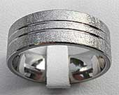 Scratched Texture Titanium Wedding Ring