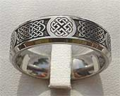 Shield Knot Celtic Wedding Ring