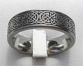 Shield Knot Flat Celtic Wedding Ring