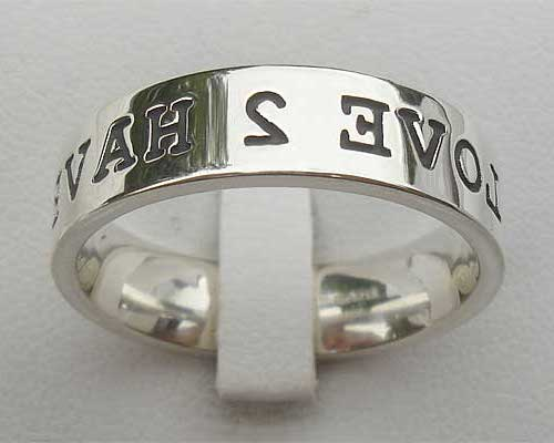 Silver Customised Wedding Ring