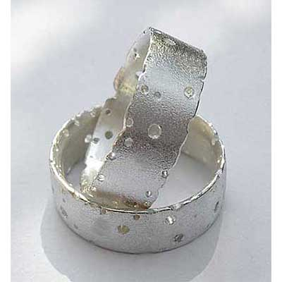 Silver Handmade Wedding Rings