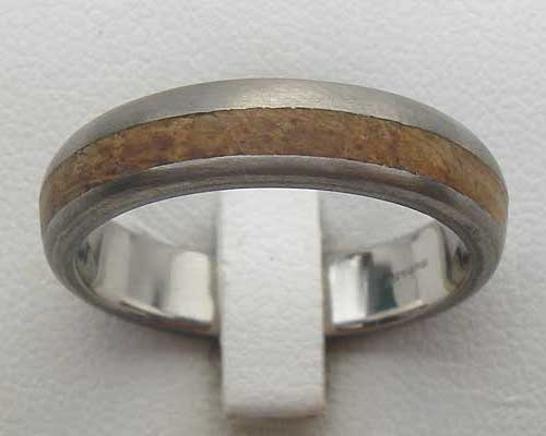 Titanium & Wood Wedding Ring