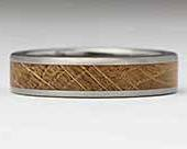Titanium & Wooden Inlay Wedding Ring
