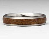 Titanium & Wooden Wedding Ring