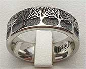 Trees Titanium Wedding Ring