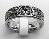 Tribal Titanium Wedding Ring