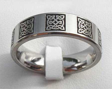 Trinity Symbol Celtic Wedding Ring