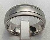 Twin Grooved Titanium Wedding Ring