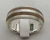 Twin Inlay Wooden Wedding Ring