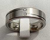 Twin White Diamond Wedding Ring