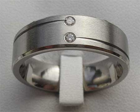 Two White Diamond Wedding Ring