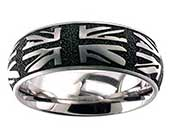 Union Jack Titanium Wedding Ring