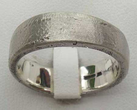 Urban Sterling Silver Wedding Ring