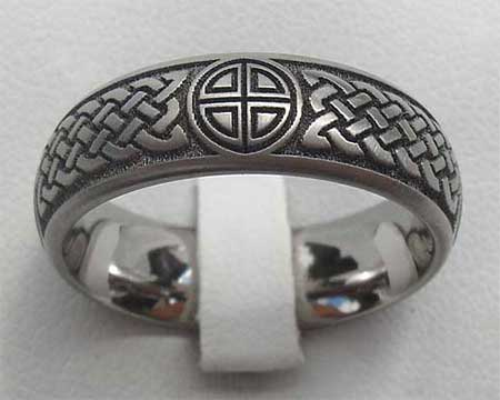 Weaved Knot Celtic Wedding Ring