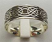 White Gold Celtic Wedding Ring