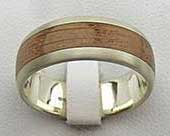 White Gold & Wooden Wedding Ring