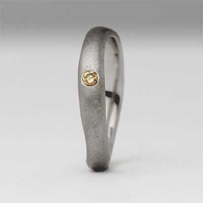 Womens Brown Diamond Wedding Ring