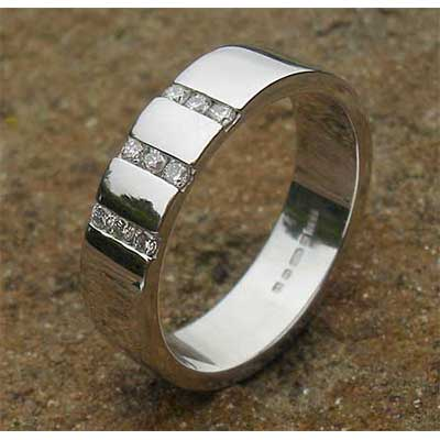 Womens Channel Set Diamond Wedding Ring