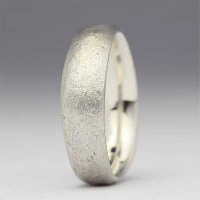 Womens Handmade Silver Wedding Ring
